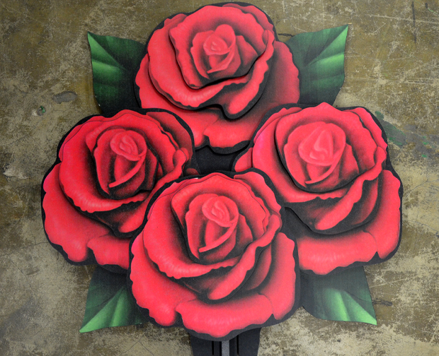 3-D Custom Display - Four Roses
